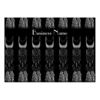 Profile Card Vintage African Masks Business Cards