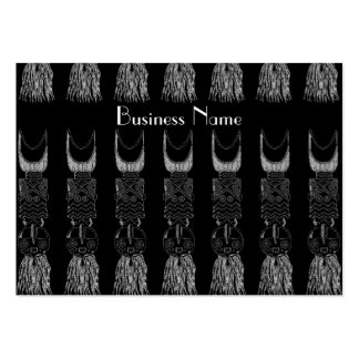 Profile Card Vintage African Masks Pack Of Chubby Business Cards