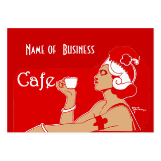 Profile Card Vintage Art Cafe Coffee Shop Business Pack Of Chubby Business Cards