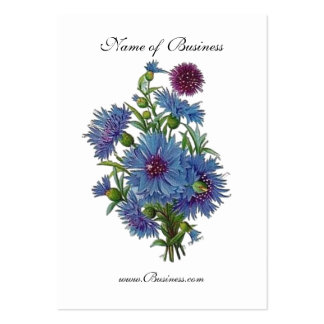 Profile Card Vintage Blue Floral Pack Of Chubby Business Cards