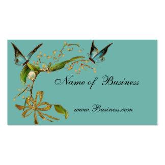 Profile Card Vintage Butterflies Teal Pack Of Standard Business Cards