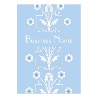 Profile Card Vintage Delicate Blue Floral Pack Of Chubby Business Cards
