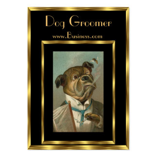 Profile Card Vintage Dog Groomers 2 Pack Of Chubby Business Cards