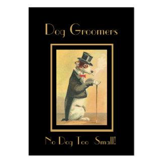 Profile Card Vintage Dog Groomers 3 Business Card