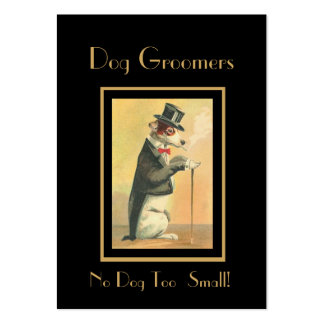 Profile Card Vintage Dog Groomers 3 Pack Of Chubby Business Cards
