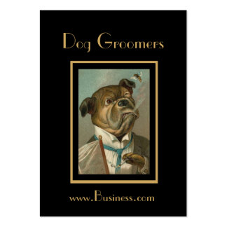 Profile Card Vintage Dog Groomers Pack Of Chubby Business Cards