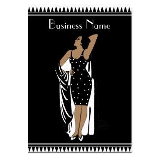 Profile Card Vintage Glamor Girl Black White Business Cards