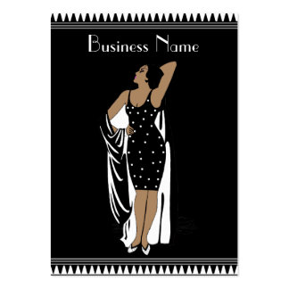 Profile Card Vintage Glamor Girl Black White Pack Of Chubby Business Cards