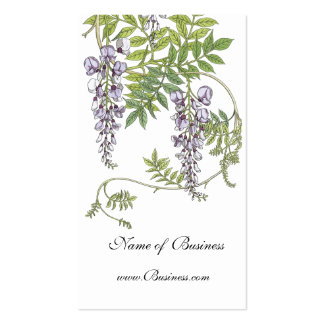 Profile Card Vintage lavender White Pack Of Standard Business Cards