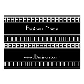 Profile Card Vintage Print Black White Art Deco Pack Of Chubby Business Cards