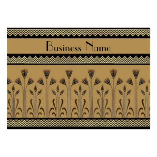 Profile Card Vintage Victorian Beige Black White Pack Of Chubby Business Cards