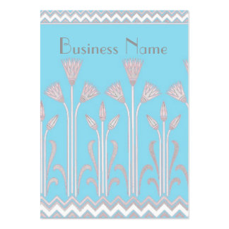 Profile Card Vintage Victorian Pattern Blue Grey Pack Of Chubby Business Cards