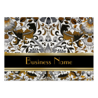 Profile Card Vintage William Morris Brown Floral 2 Pack Of Chubby Business Cards