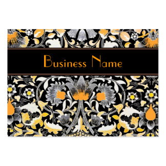 Profile Card Vintage William Morris Orange Floral Pack Of Chubby Business Cards