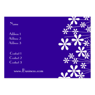 Profile Card White Spring Flower Blue Business Business Card Templates