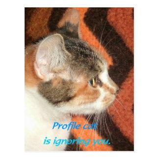 Profile Cat Postcard