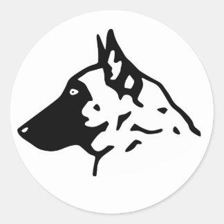 profile malinois classic round sticker