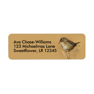 Profile of a Beautiful Marsh Wren Return Address Label