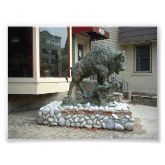 Profile of a Buffalo Sculpture in Buffalo New York Photo
