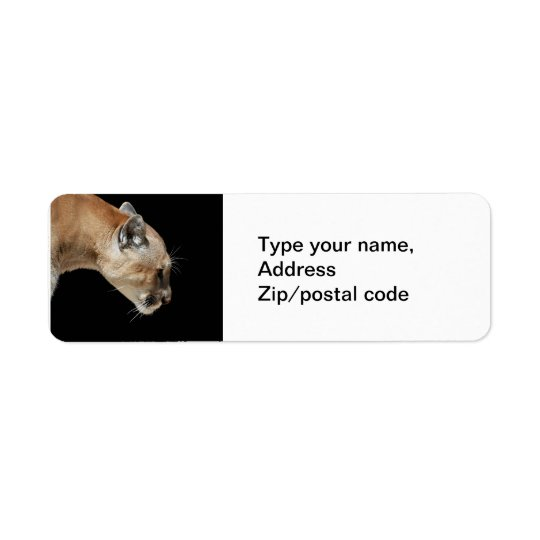 Profile of a Cougar Return Address Label