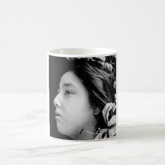 Profile of a Geisha Black and White Beauty Vintage Coffee Mug