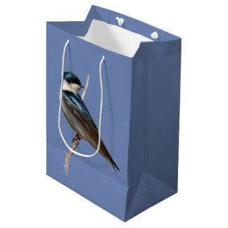 Profile of a Male Tree Swallow in the Sun Medium Gift Bag