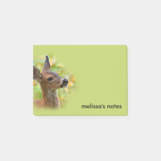 Profile of a Young Black-Tailed Deer Post-it Notes