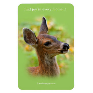 Profile of a Young Black-Tailed Deer Rectangular Photo Magnet