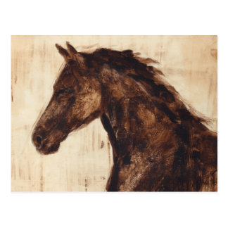 Profile of Brown Wild Horse Postcard