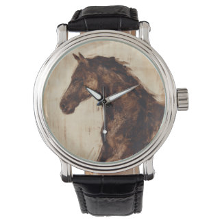 Profile of Brown Wild Horse Watch