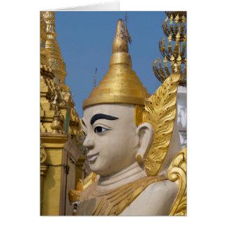 Profile Of Buddha Statue Card