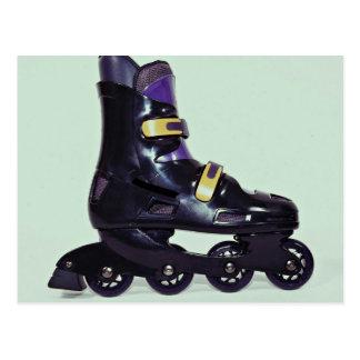 Profile of in-line skates shoe post card