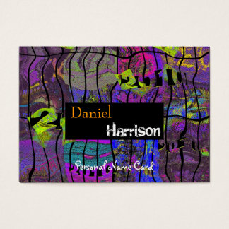 Profile Personal Name Card Urban Grunge Abstract