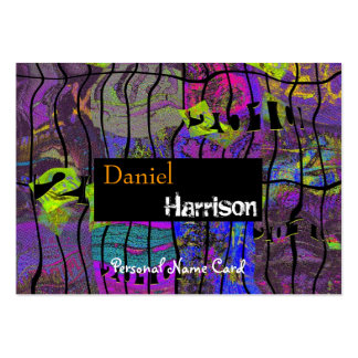 Profile Personal Name Card Urban Grunge Abstract Business Card