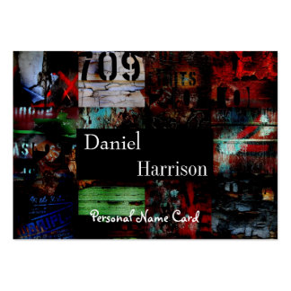 Profile Personal Name Card Urban Grunge Abstract Large Business Cards (Pack Of 100)