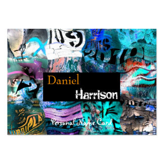 Profile Personal Name Card Urban Grunge Abstract Business Card Templates