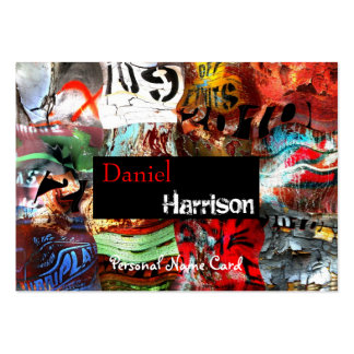 Profile Personal Name Card Urban Grunge Abstract Pack Of Chubby Business Cards