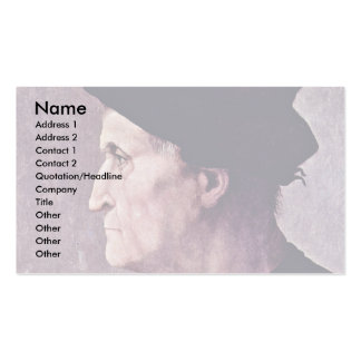 Profile Portrait Of A Man (Francesco Da Castiglion Pack Of Standard Business Cards