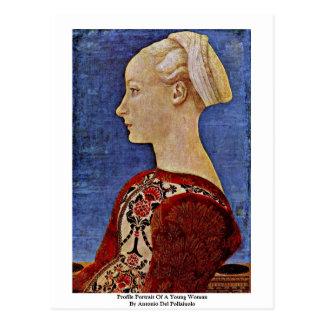 Profile Portrait Of A Young Woman Postcard