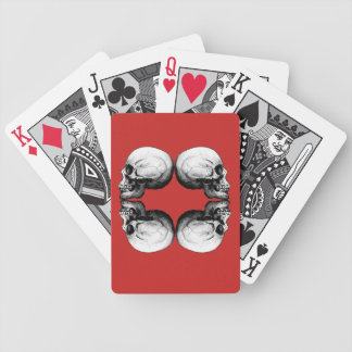 Profile Skull X4 Black And White Protective Bones Bicycle Playing Cards