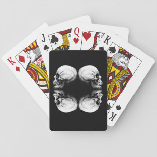 Profile Skull X4 Black And White Protective Bones Playing Cards