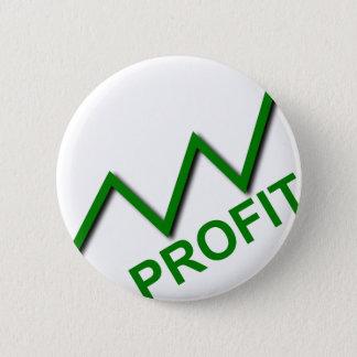 Profit Curve 6 Cm Round Badge