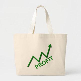 Profit Curve Large Tote Bag