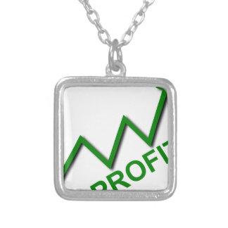 Profit Curve Silver Plated Necklace