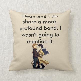 Profound Bond Throw Pillow. Cushion