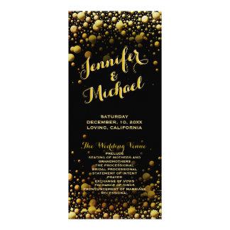 Program | Champagne Bubbles Rack Card Template