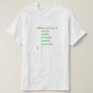 Program while T-Shirt