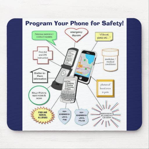 Program Your Cell Phone for Safety Mouse Pad
