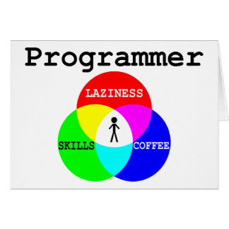 Programmer Intersection Laziness, Skills, Coffee Card