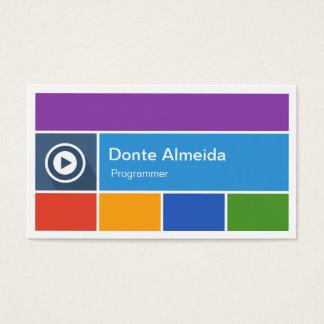 Programmer - Modern Flat Metro Style Business Card